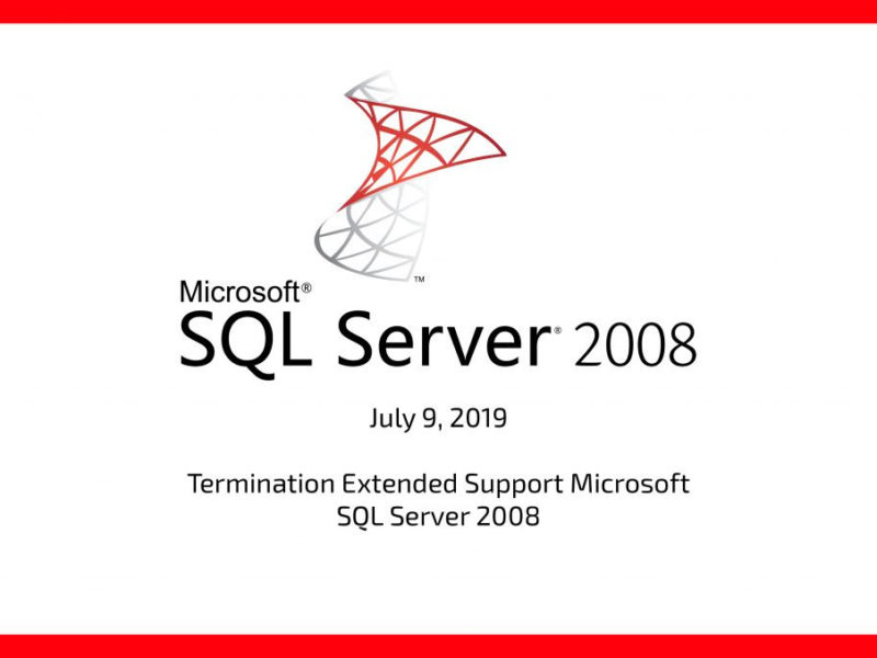 SQL Server 2008: end of support